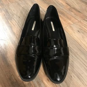 Zara Basics patent leather loafers